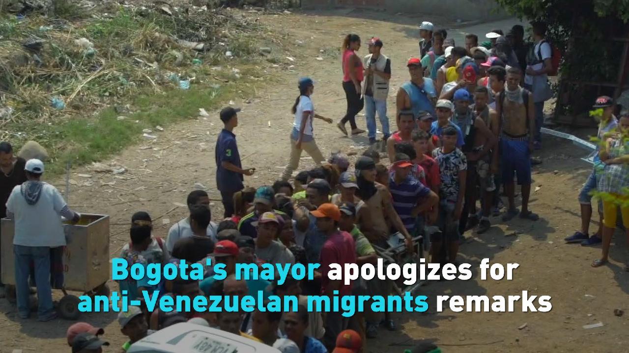 Bogota's mayor apologizes for anti-Venezuelan migrants remarks
