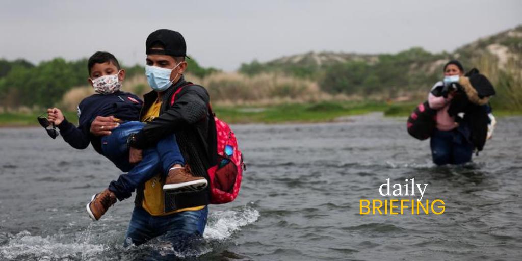 Venezuelan Migrants Streaming Across Rio Grande